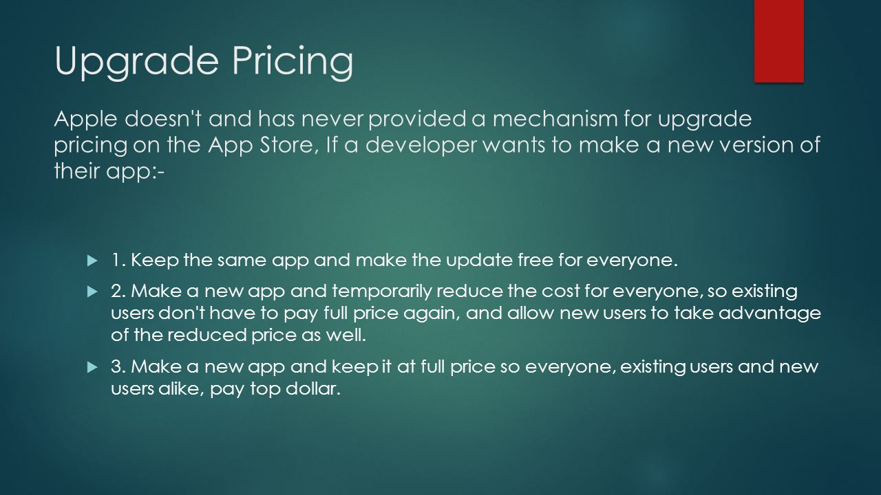 IOS APP STORE PRICING MODELS AND LICENSING POLICIES  - ppt