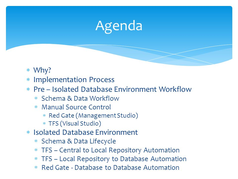 Isolated Database Environments Kevin Howell February ppt