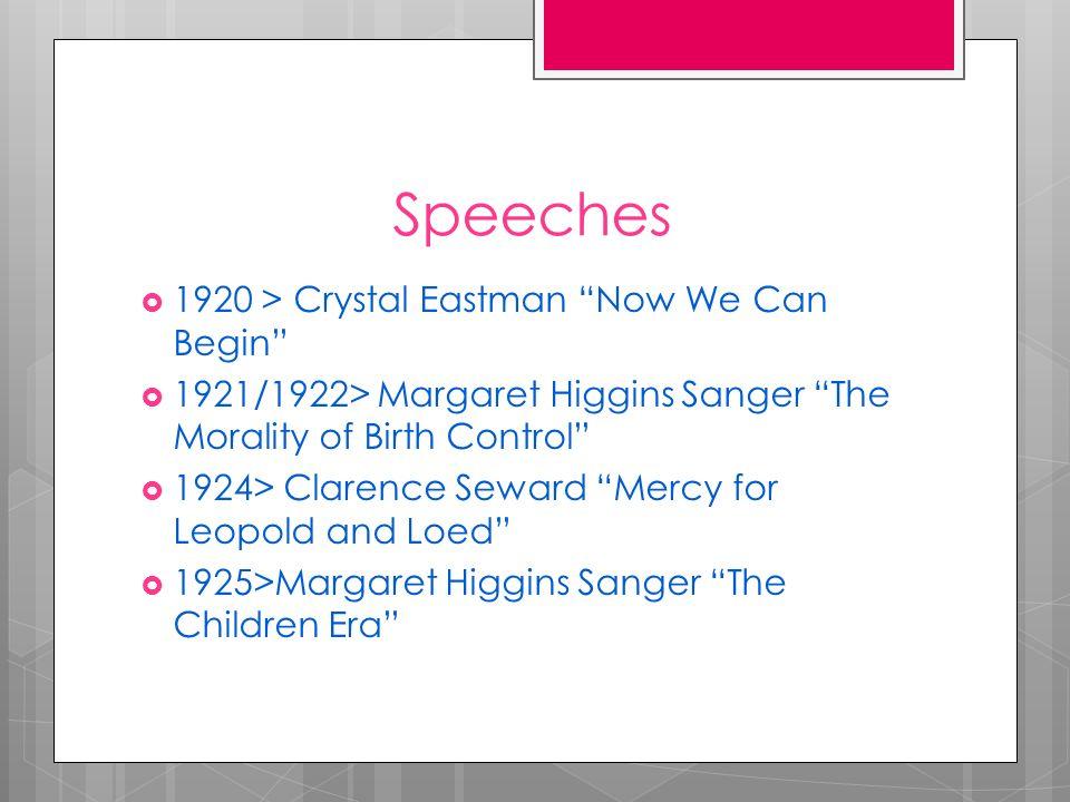 margaret sanger the childrens era speech