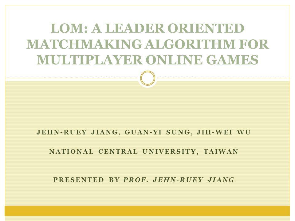 multiplayer matchmaking algoritmus