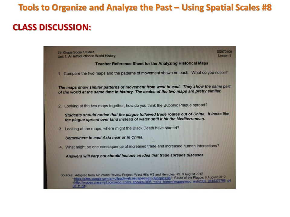 Tools To Organize And Analyze The Past Using Spatial Scales Unit 60 Impressive World History Patterns Of Interaction Answers