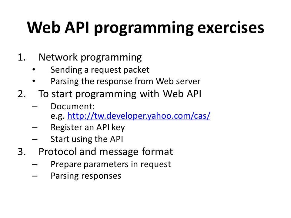 Lab #2: Web API Programming Exercises By J  H  Wang Dec  19, ppt