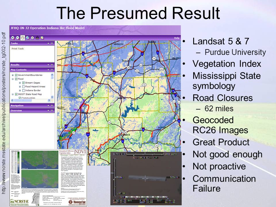 Weather Related Data Products for Emergency Management