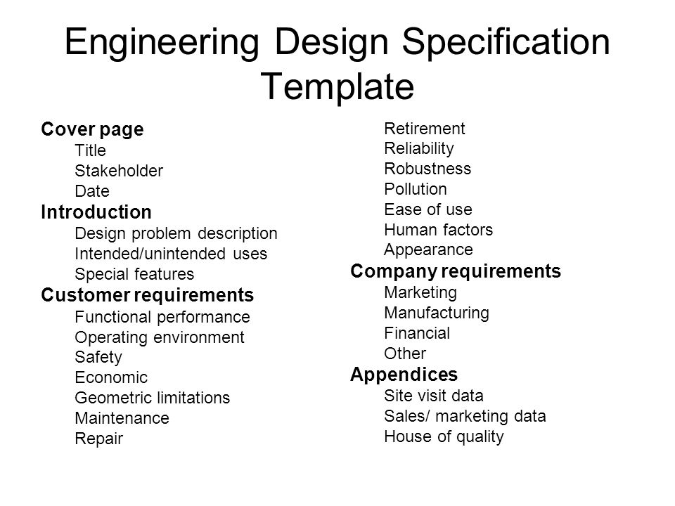 Ept 221 Engineering Design Formulating A Design Problem Ppt Download