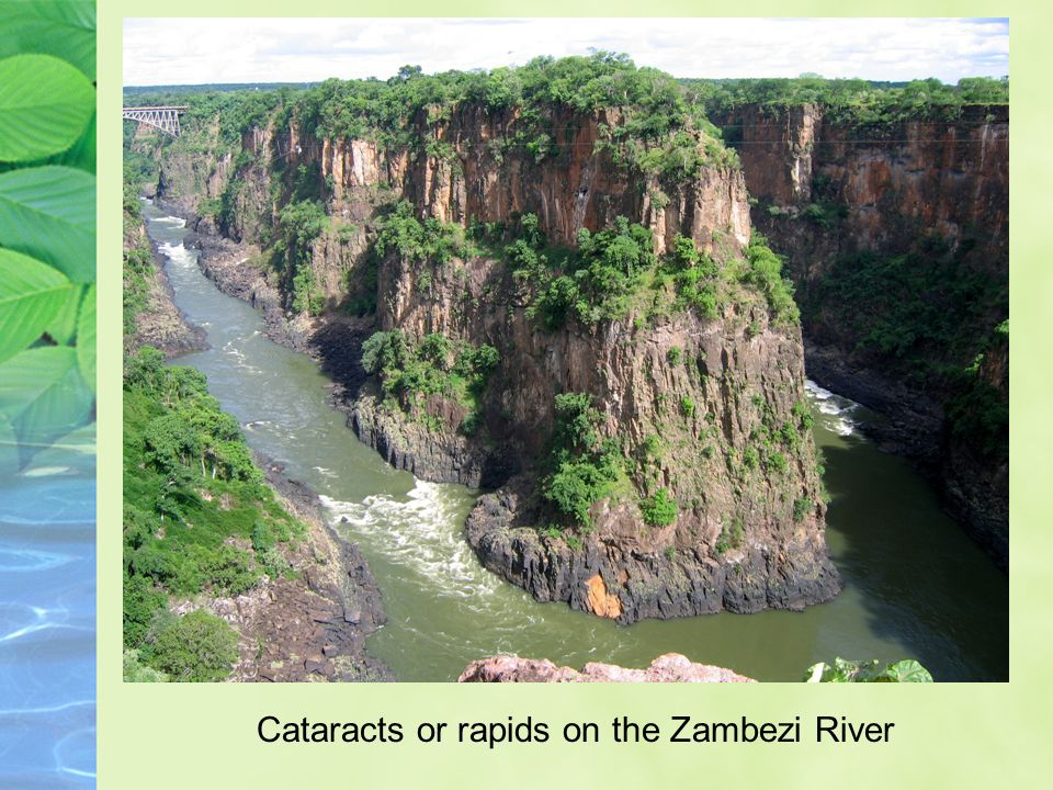 Cataracts or rapids on the Zambezi River