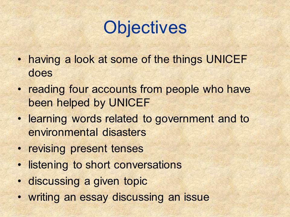 short essay on unicef