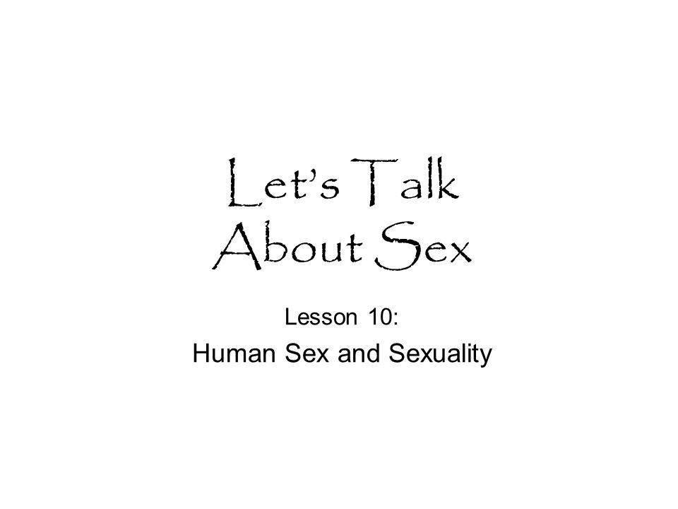 lesson Human sexuality