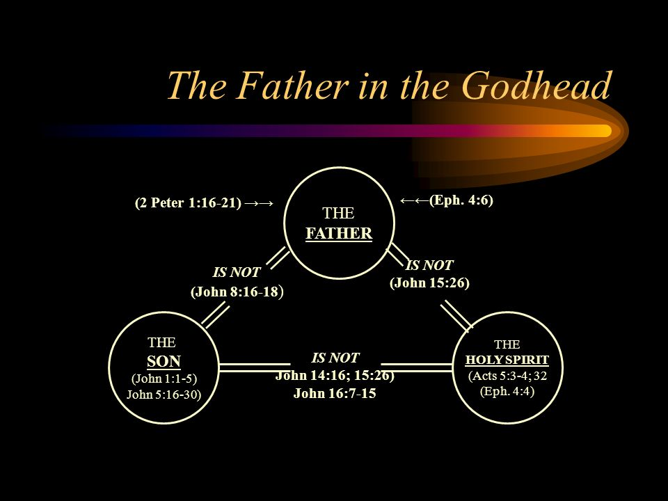 the father in the godhead the father the son (john 1:1-5