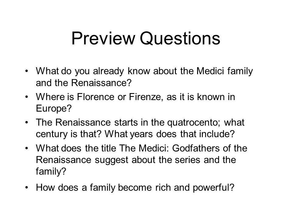 agenda january 6 journal preview questions watch pbs s medici rh slideplayer com