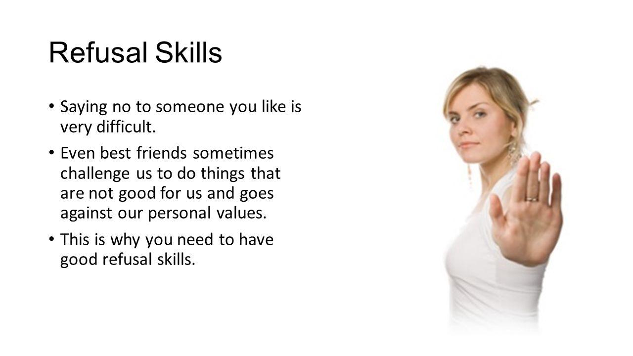 5 steps of refusal skills