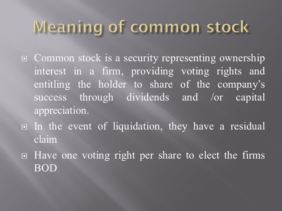 What does liquidating stocks meanings
