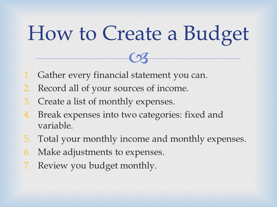 objective students will learn how to prepare a budget and identify