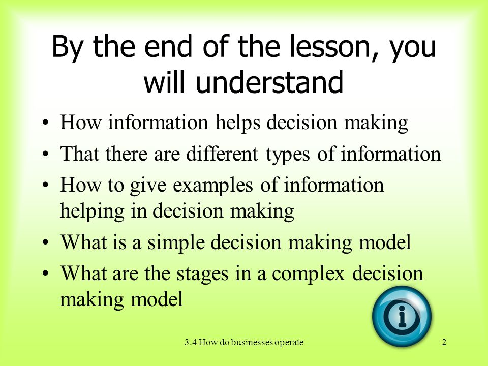 types of decision making models in business