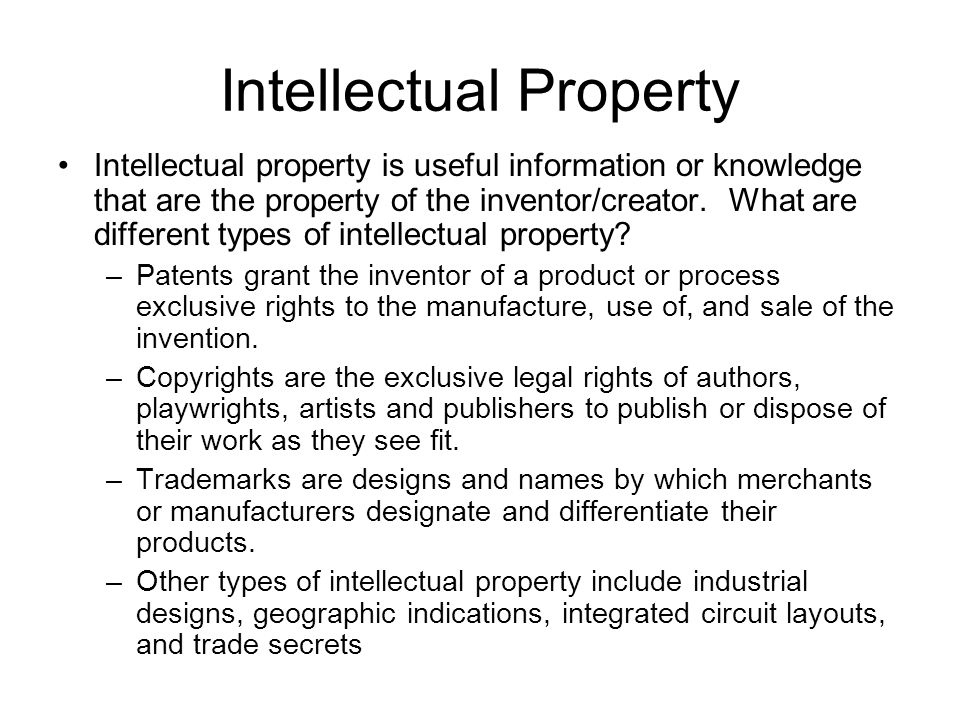 Trade Related Intellectual Property Agreement John Ries Spha Ppt