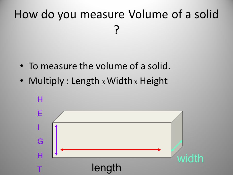 Measuring In The Metric Zone Length Volume And Mass Ppt Download