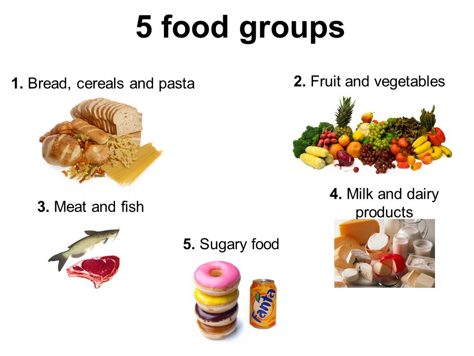 Food there are 5 food groups 1 bread cereals and pasta ppt 5 food groups 1 bread cereals and pasta 2 fruit and vegetables 3 forumfinder Gallery