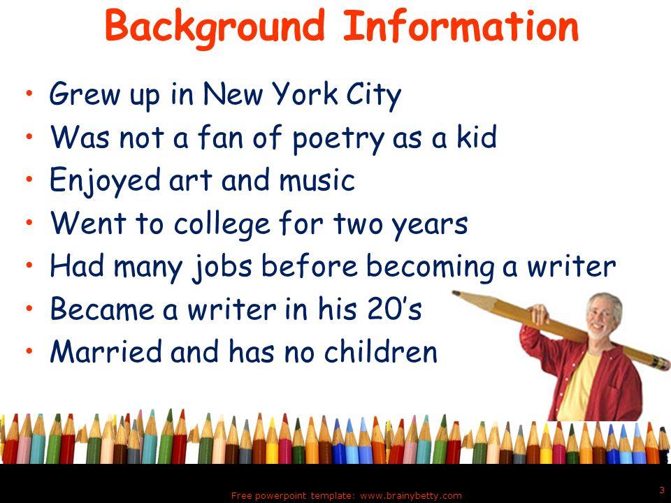 Jack Prelutsky Poet and Children's Entertainer  The New Kid