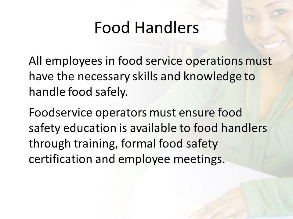 Education and Training Operators & Food Handlers  - ppt download