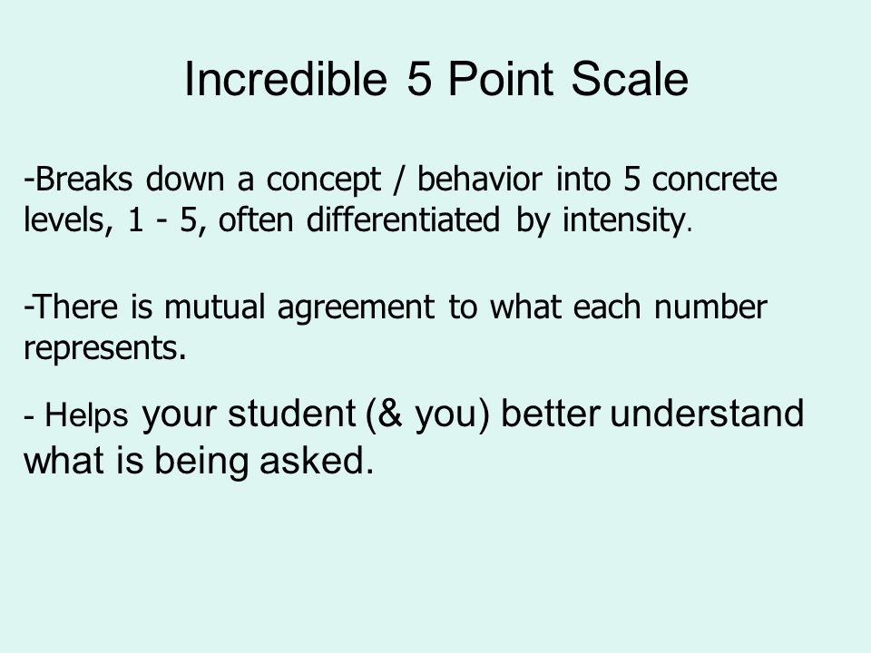 Additional Social Thinking Strategies The Incredible 5 Point Scale