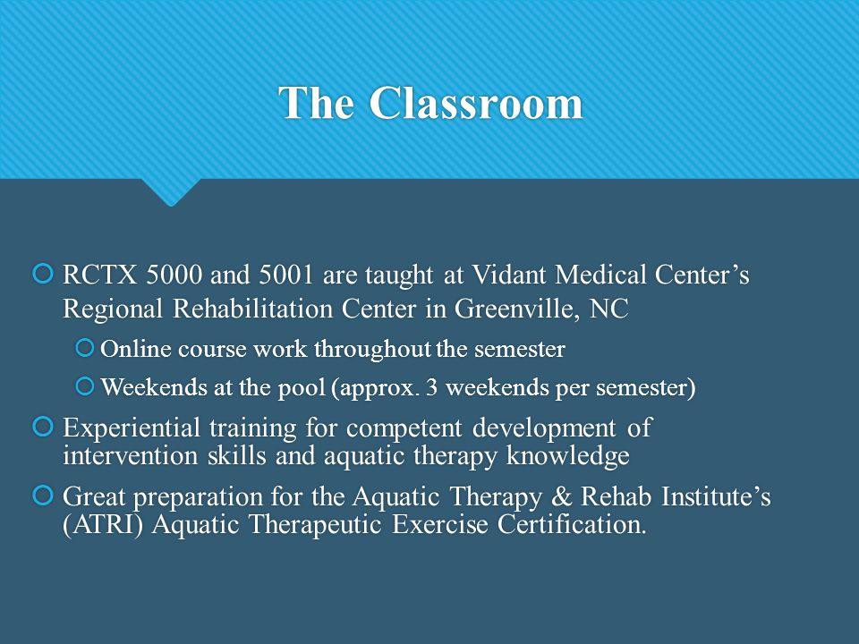 Aquatic Therapy Certificate Program East Carolina University. - ppt ...