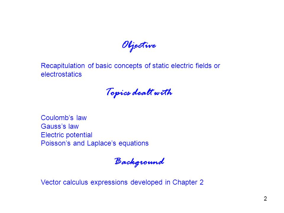 1 Engineering Electromagics Essentials Chapter 3 Basic Concepts. 2 Objective Recapitulation Of Basic Concepts Static Electric Fields Or Electrostatics To Dealt With Coulomb's Law Gauss's Potential. Worksheet. Coulomb S Law Static Electricity Worksheet Answers At Clickcart.co