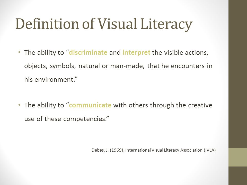 Visual Literacy As Udl Solution Part I Definition Of Visual