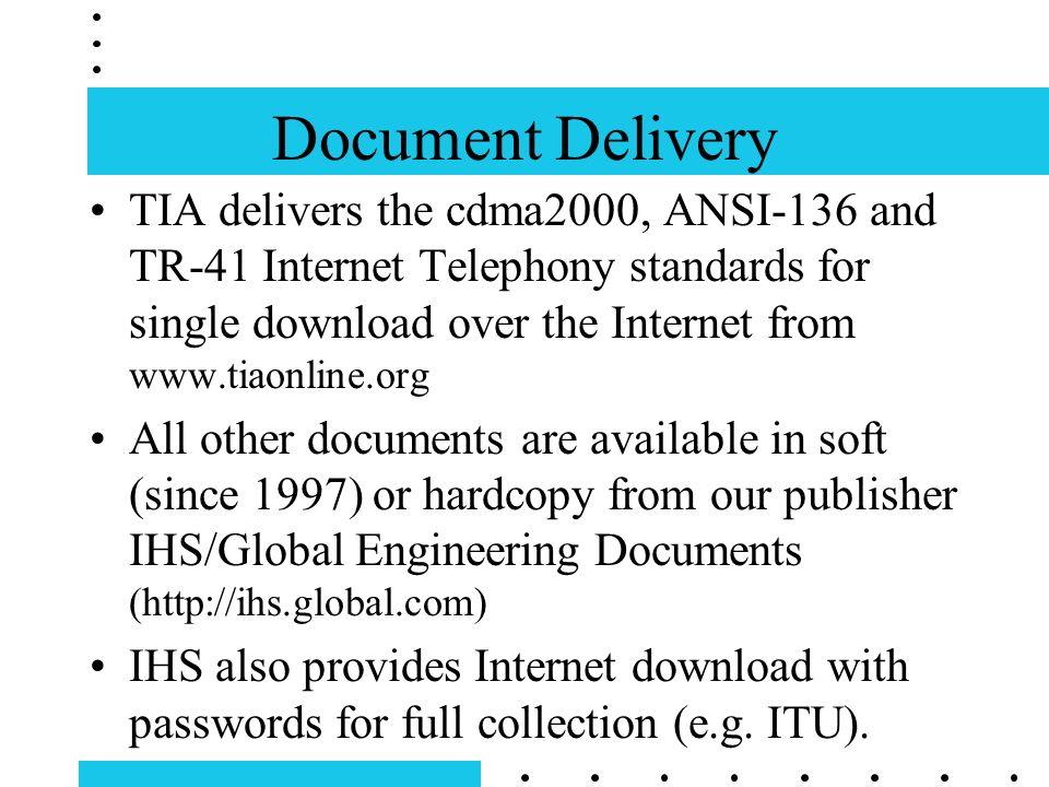 Electronic Tools for TIA Standards Development David