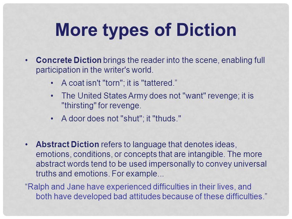 concrete diction examples