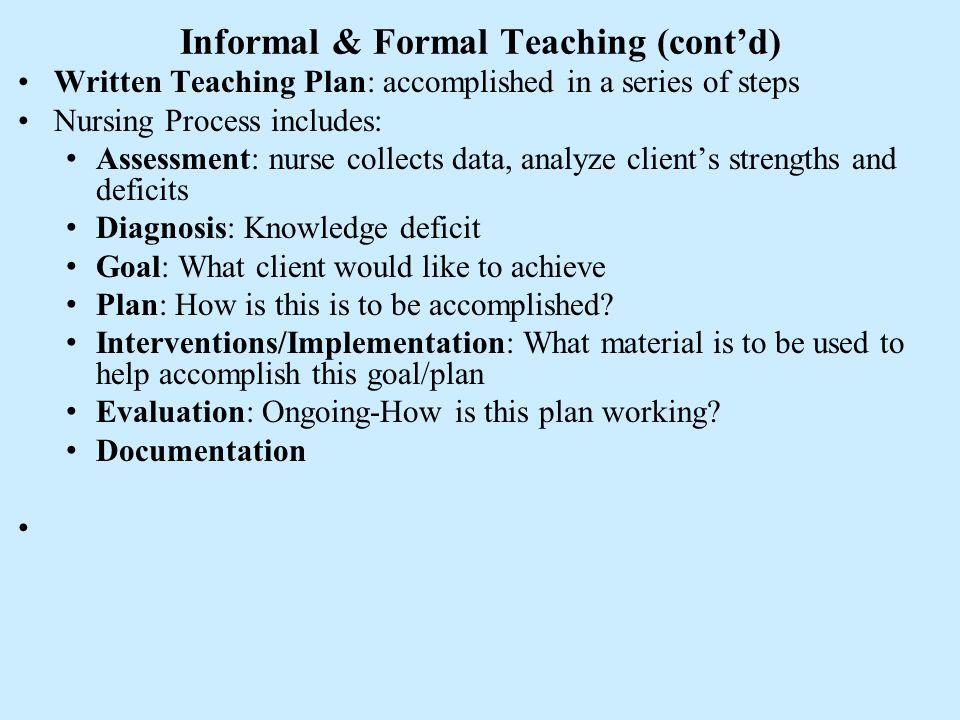 what is a teaching plan in nursing