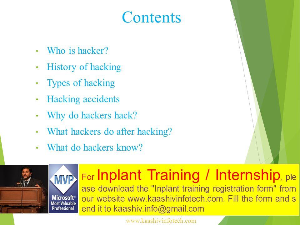 KaaShiv InfoTech Ethical Hacking For Inplant Training / I
