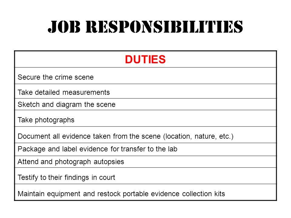 Crime Scene Investigator About Investigators CSIs Go