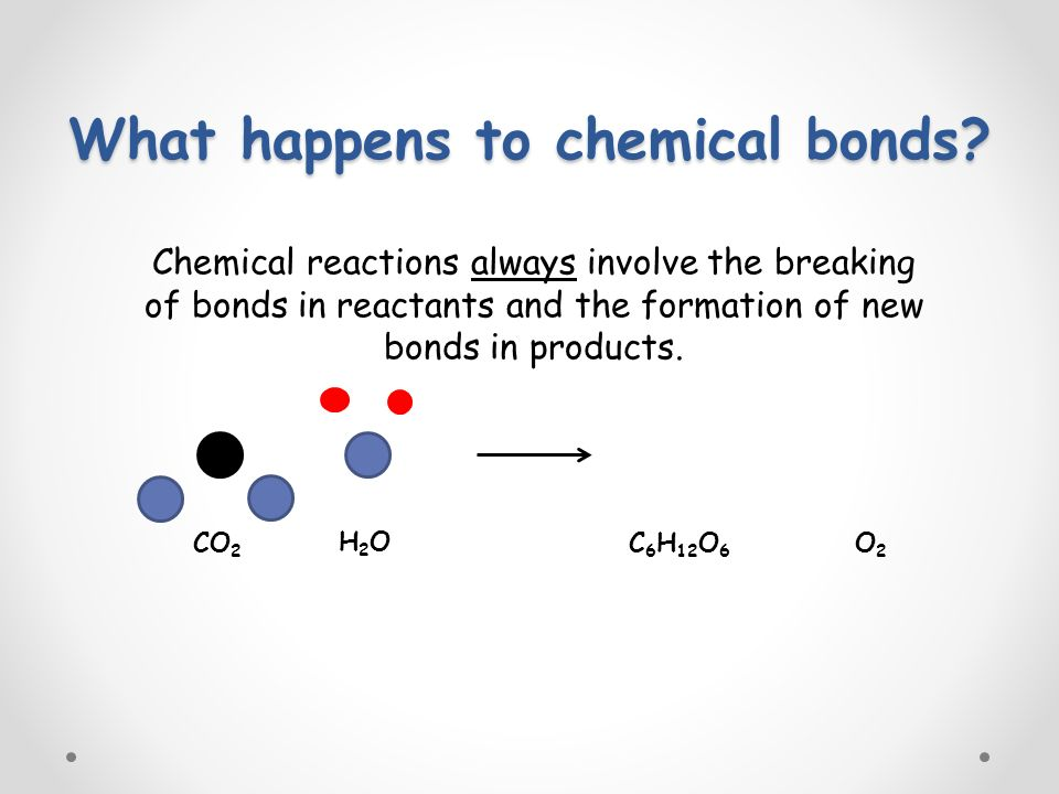 What happens to chemical bonds.