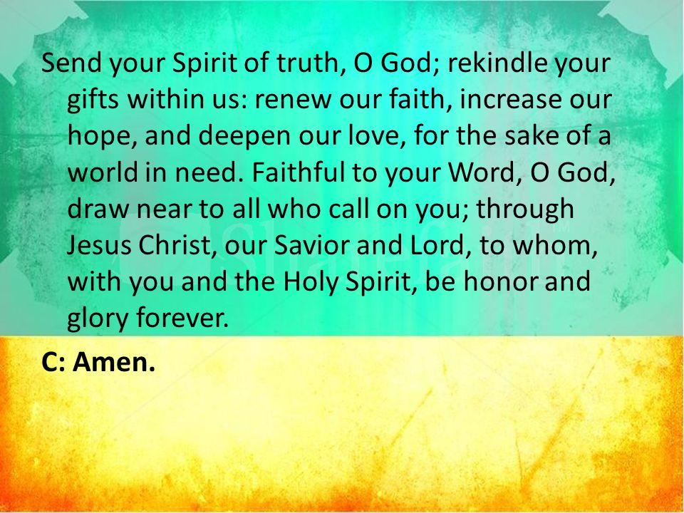 Sunday November 8 2015 Elijah At Mount Carmel Service Of The Word