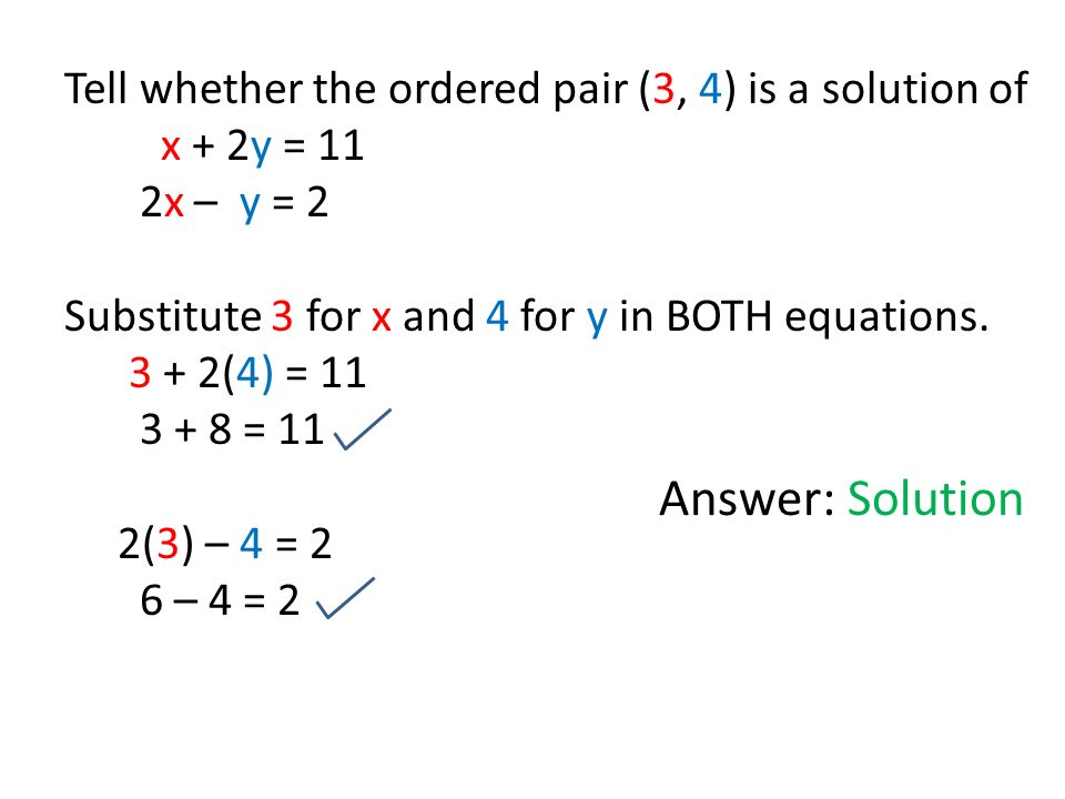 3 1 Solving Linear Systems By Graphing 9 20 13 Solution Of A System