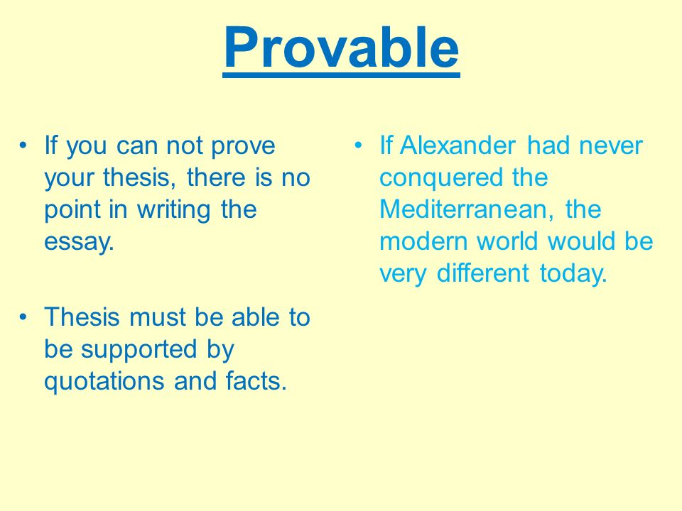 provable thesis