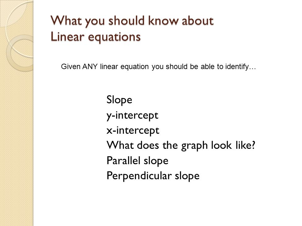 Linear Equations Review Geometry Prerequisite Ga1c1 I Can Write A