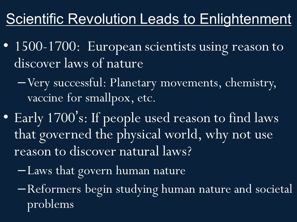 summary of scientific revolution