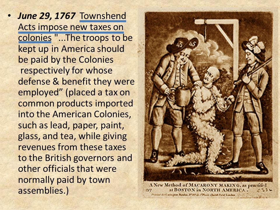 the british taxes and the american revolution To begin with how the evil british got this view, lets look back around 20 years before the revolution the french and indian war began in 1754 due to english colonists settling past the agreed upon boundary between england, france, and some native american tribes.