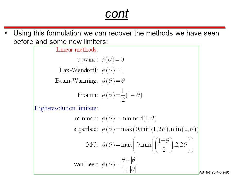 Numerical Methods for Partial Differential Equations CAAM