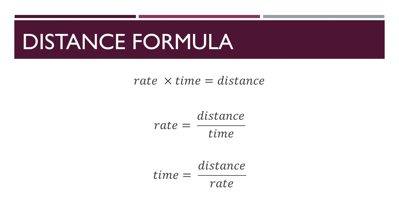 3 Distance Formula
