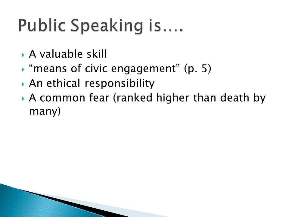 public speaking ideas for high school