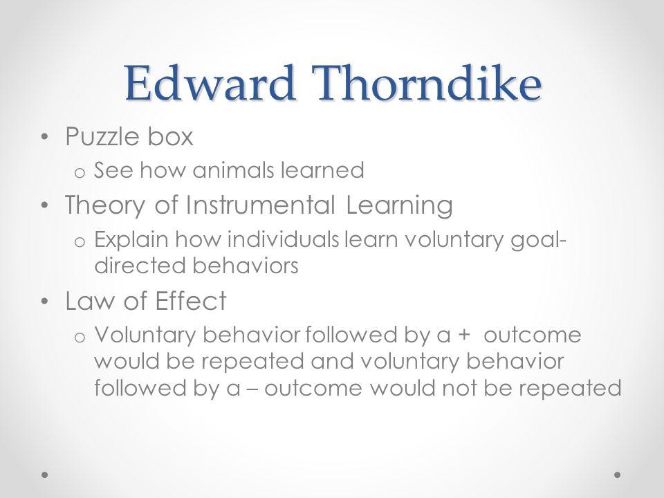 thorndike reinforcement theory