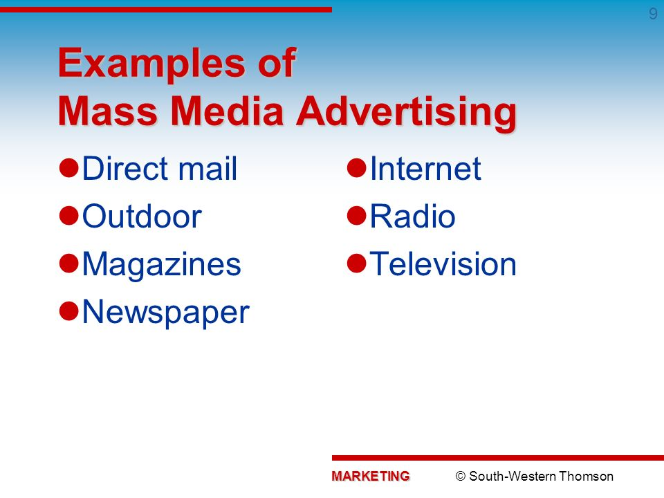 mass media advertising