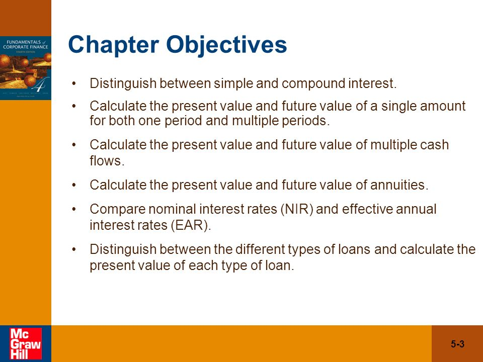 5 1 chapter five the time value of money future value and