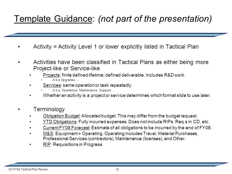 Cd Fy09 Tactical Plan Review Fy09 Tactical Plans For Es H Amy