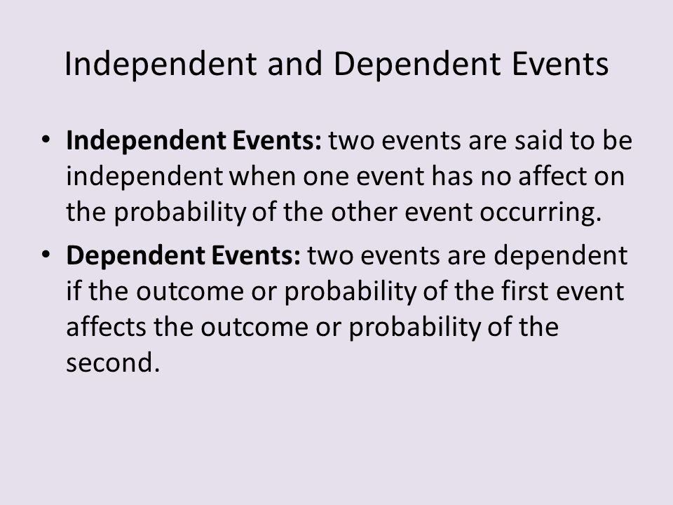 ccm2 unit 6 lesson 2 homework 1 independent and dependent events