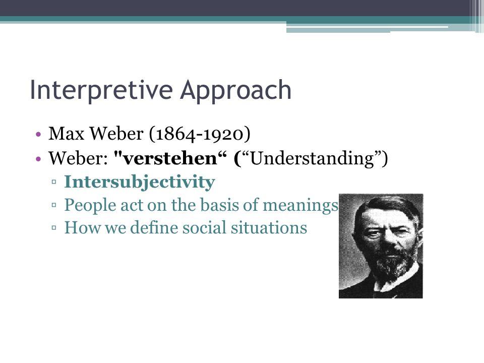 verstehen approach