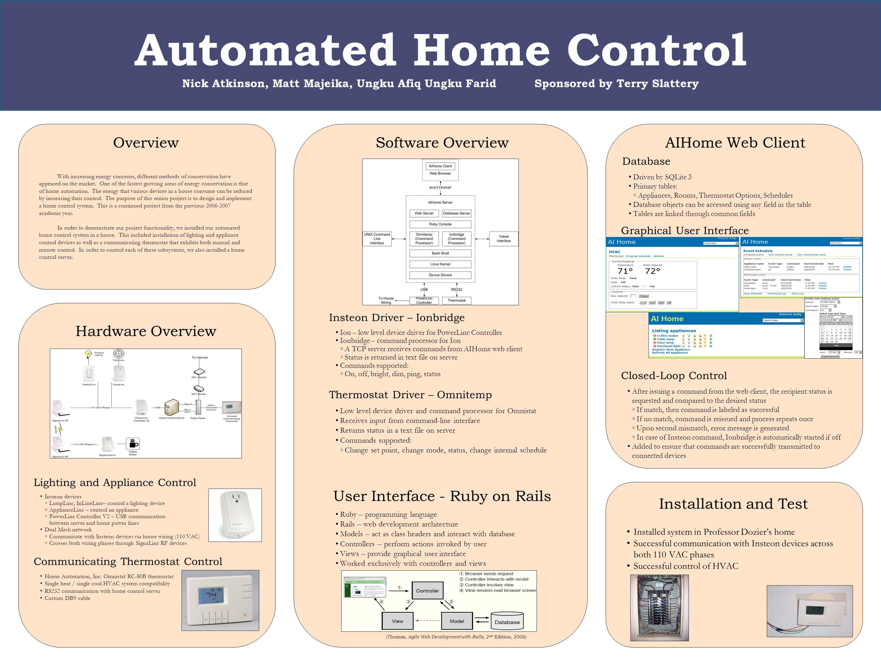 Automated Home Control Nick Atkinson Matt Majeika Ungku Afiq Design And Development Of An System Using 1