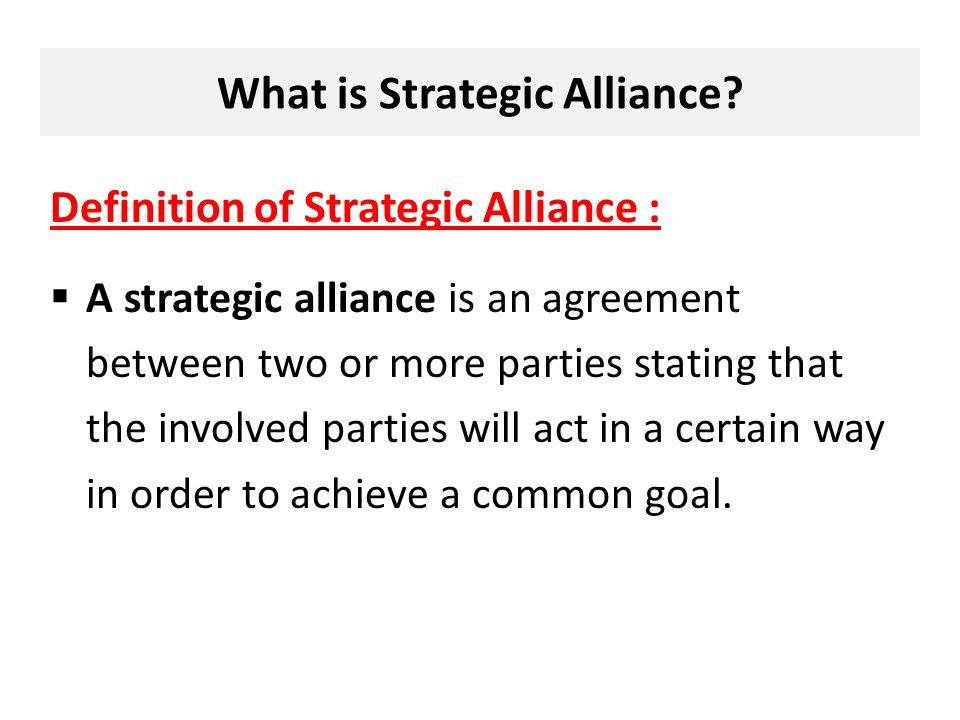 Chapter 8 International Strategic Alliances Introduction What Is