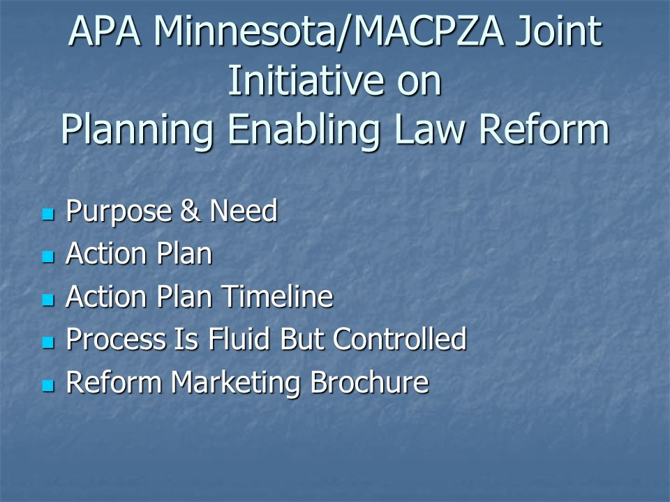 conference session wrap up reform of minnesota planning zoning